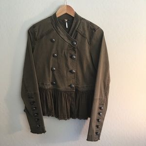 Free People military jacket size small